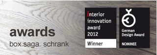 innovation award: BOX.saga. gewinnt den Interior Innovation Award der imm cologne 2012