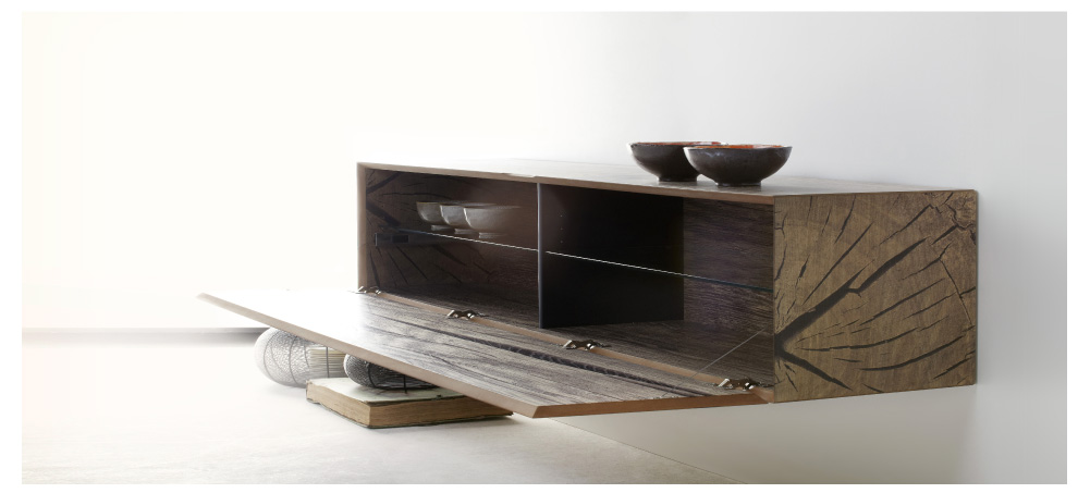 sideboard h ngend eiche. Black Bedroom Furniture Sets. Home Design Ideas